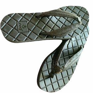 REEF glitter slippers